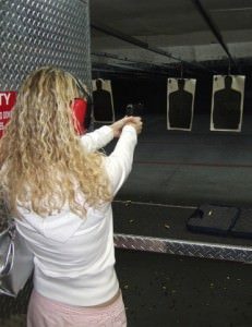 Woman Firearms Training 18-Years-old